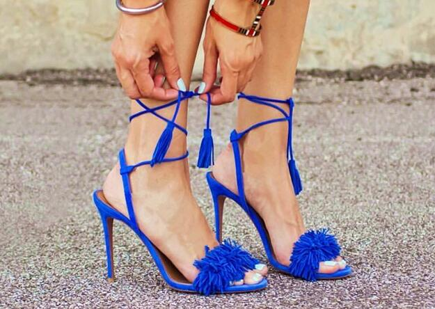Sexy Summer Summer Ankle Tied Lace up Stilettos Shoes For Woman in Solid Color Hanging ear Rome Style open toe Ladies SandalsSexy Summer Summer Ankle Tied Lace up Stilettos Shoes For Woman in Solid Color Hanging ear Rome Style open toe Ladies Sandals