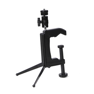 Image 2 - Mini Portable Camera Stand Camera Clamp Tripod 1/4   20 Screw Photography Table Tripod Clamp Camera Stand for DV SLR VCR Camera
