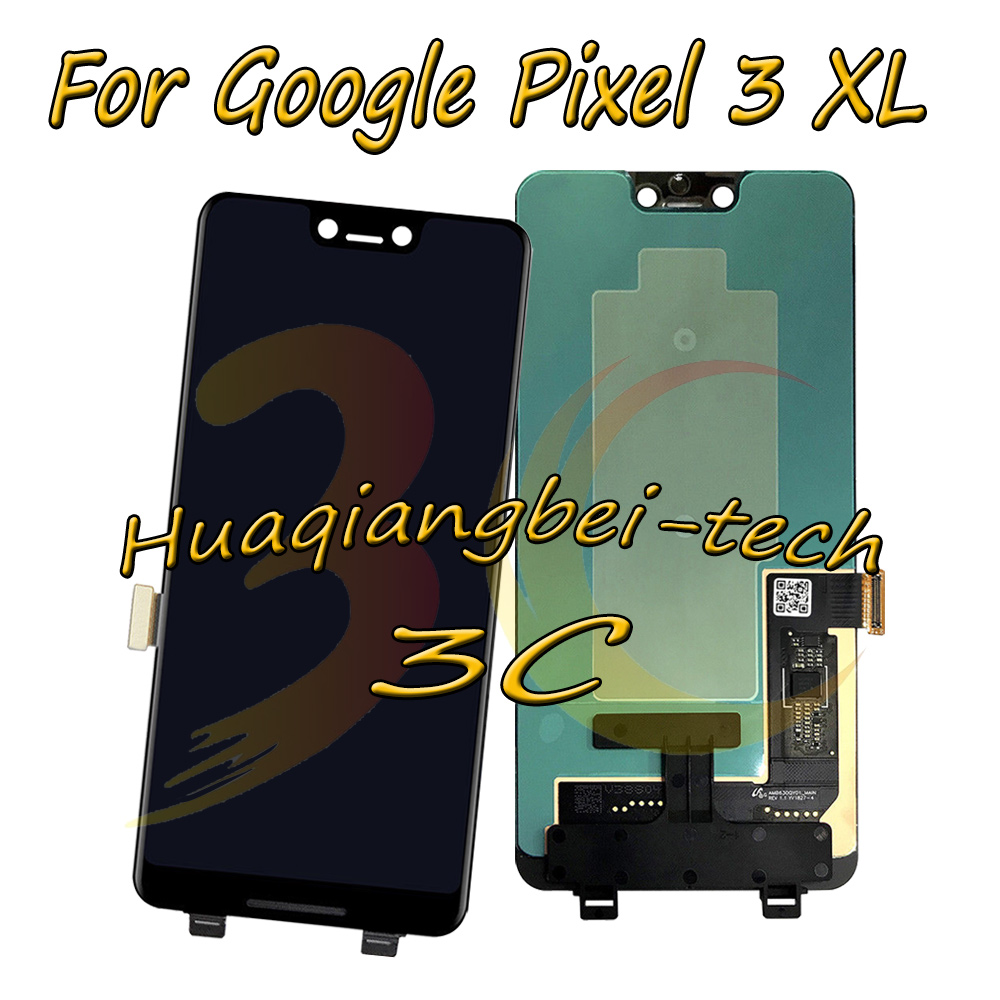 New 6.3 Black For Google Pixel 3 XL Full LCD DIsplay + Touch Screen Digitizer Assembly 100% Tested With Tracking NumberNew 6.3 Black For Google Pixel 3 XL Full LCD DIsplay + Touch Screen Digitizer Assembly 100% Tested With Tracking Number
