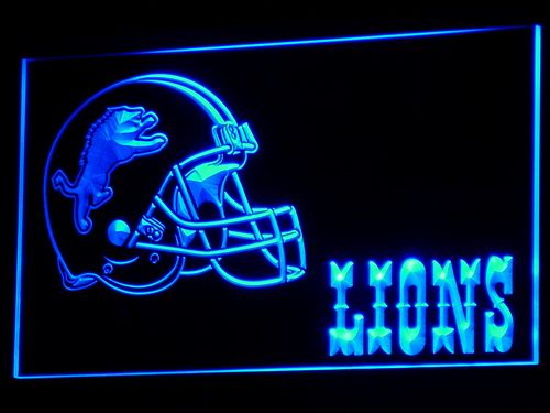 b319 Detroit Lions Helmet Football LED Neon Sign with On/Off Switch 20+ Colors 5 Sizes to choose
