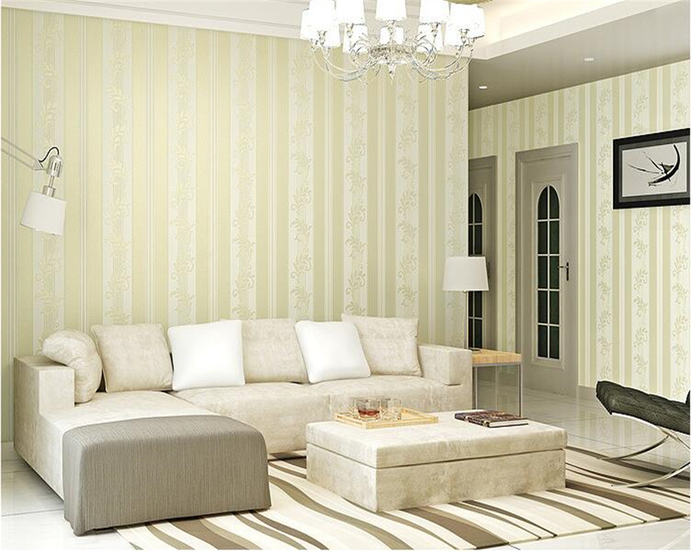 Beibehang Continental Wallpaper Bedroom Luxury Non-woven Simple Three-dimensional Vertical Stripes 3d Wallpaper Relief Tapety
