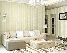 beibehang Continental wallpaper bedroom luxury non-woven simple three-dimensional vertical stripes 3d relief tapety