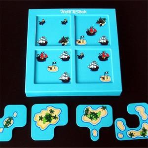 Image 4 - 海賊隠す & シーク IQ ボードゲーム 48 チャレンジとソリューションブックスマート Iq のおもちゃの子供のパーティーゲーム家族インタラクティブ玩具
