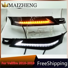 led daylight for Toyota Vellfire 30 with running siganls 2016 2017 2018 12v LED CAR DRL Daytime Running Lights fog lamp new dimming style relay waterproof 12v led car light drl daytime running lights with fog lamp hole for mitsubishi asx 2013 2014