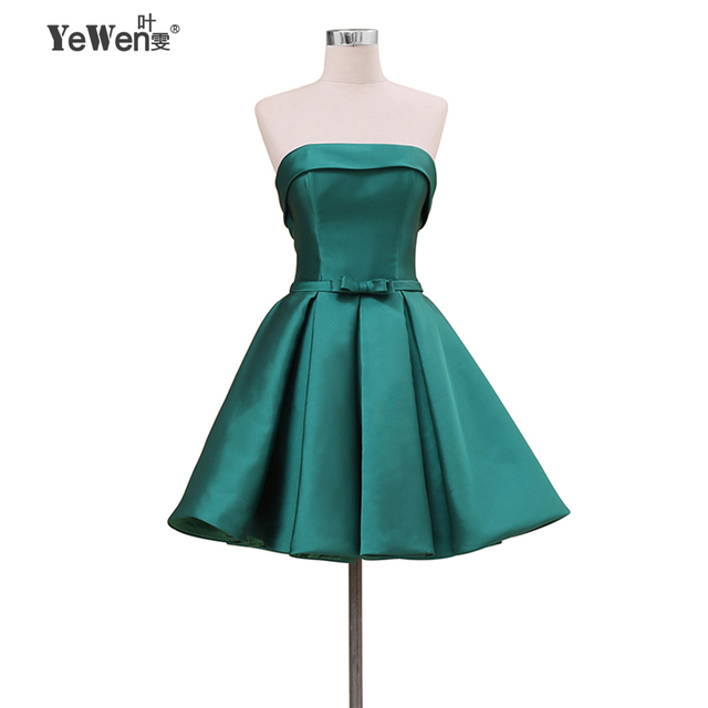 e9a2ccecfff YeWen 2018 Green Bow Pink Purple Blue Girls Short Cocktail Dresses Mini  Sexy Party Gown robe de cocktail feestjurken