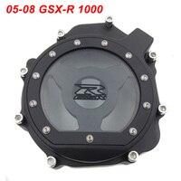 For 05 08 Suzuki GSXR1000 GSXR 1000 Engine Stator Crank Case Cover Engine Guard Side Shield Protector BLACK CHROME 2005 2008