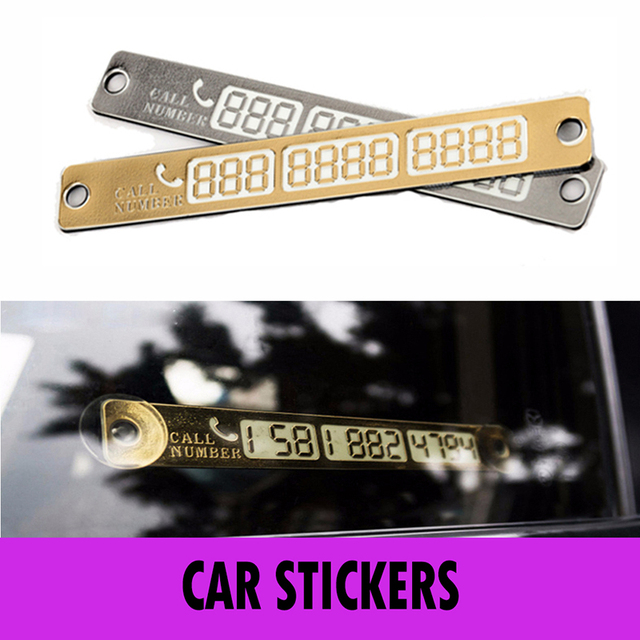 1Pcs Car Stickers Temporary Car Parking Card Notification Night Luminous Sucker Plate Card Telephone Number Card Wholesale