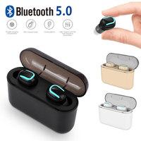 Bluetooth 5,0 TWS беспроводные Bluetooth наушники гарнитура Спорт Встроенный микрофон с зарядным устройством для смартфона
