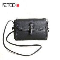 AETOO Original Handmade Women Leather Handbags Mini Bag Leather Leather Shoulder Bag Messenger Bag Simple