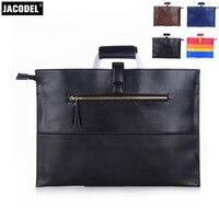 Jacodel бизнес пояса из натуральной кожи для мужчин Портфели для Macbook Air Pro тетрадь сумка мужчин's женщин курьерские Сумки Чехол