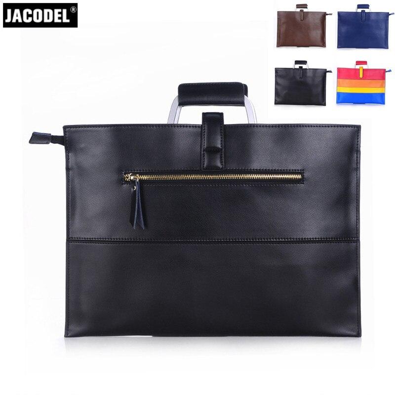 Jacodel Business Genuine Leather Men briefcase for Macbook Air Pro Notebook Bag for Men's Women's Messenger Bags Sleeve Case кейс для диджейского оборудования thon case for xdj rx notebook