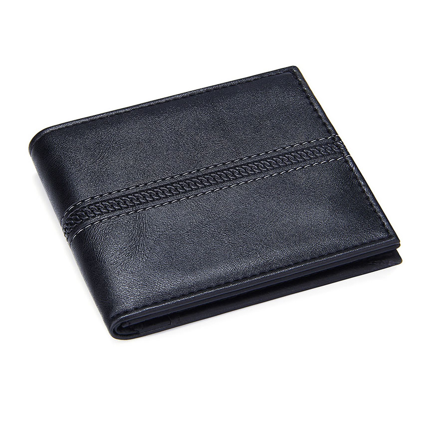 Business Short Men's Wallets Pu Leather Small Credit Card Holders Casual Clutch Coin Purse Men Bifold Cards Wallet Money Bag