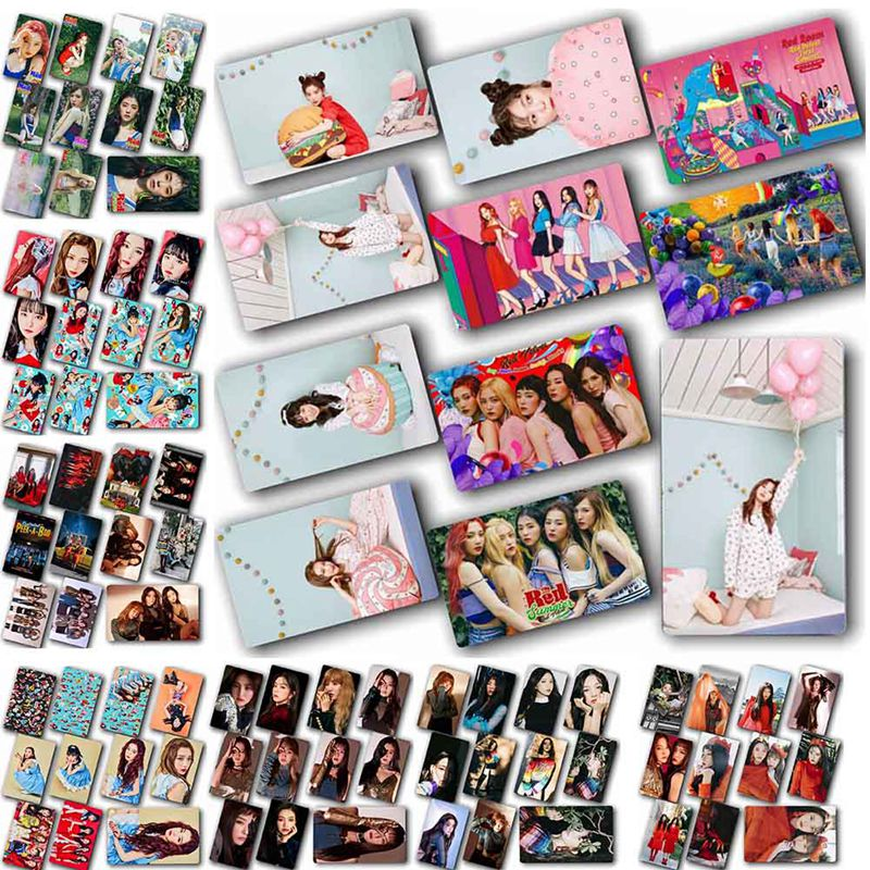 10Pcs/Set 8 Styles Fashion Hot Sale Kpop Red Velvet Red Summer Lomo Photo Card Sticker HD Sticky Photocard Poster New