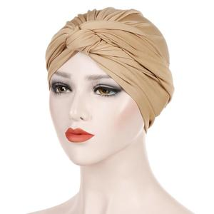 Image 5 - 이슬람 여성 인도 모자 이슬람 hijab 프릴 chemo beanie turban 이슬람 포장 모자 amira 일반 headscarf 탈모 모자 매듭 보닛