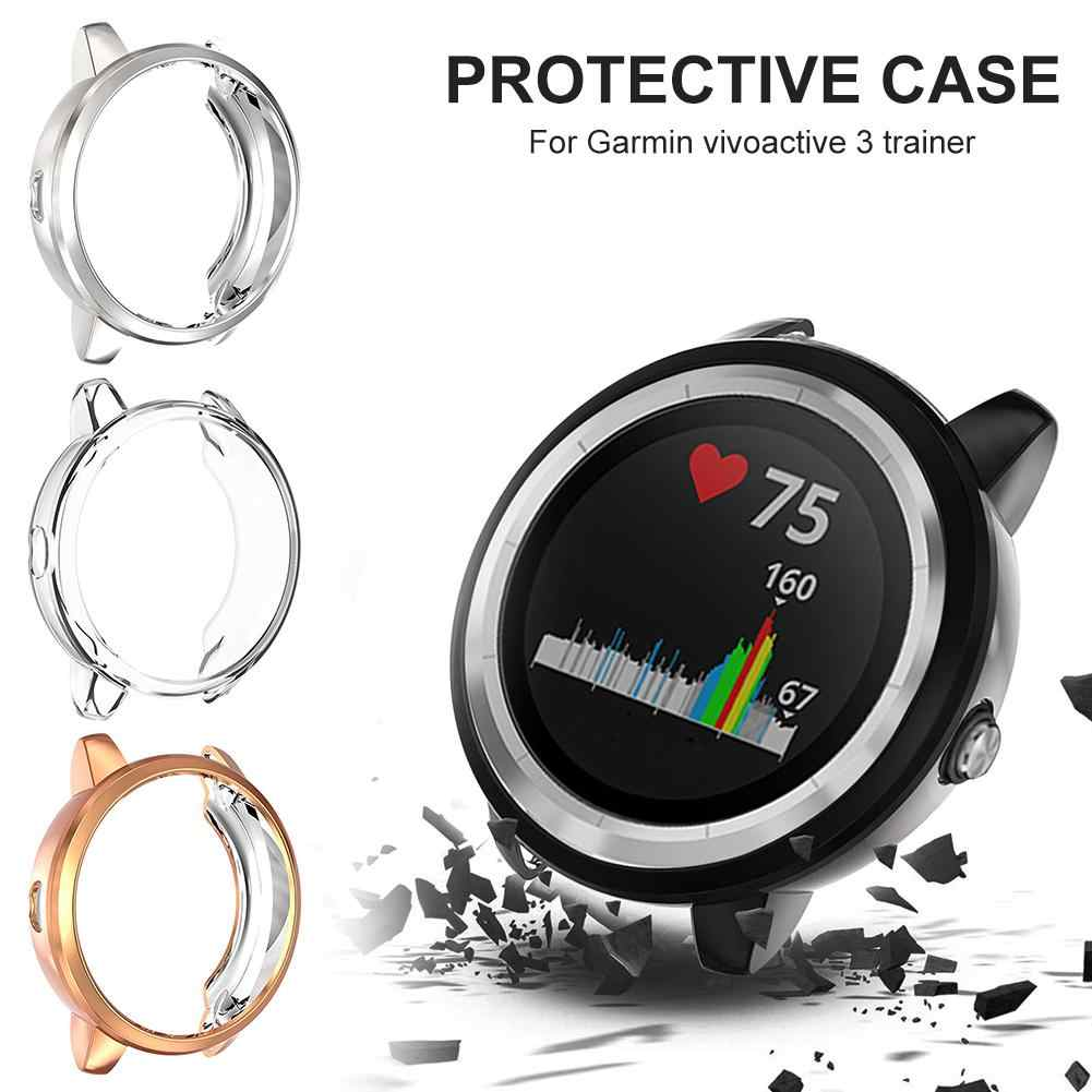 Tpu Pelindung Case Penutup Shell untuk Garmin Vivoactive 3 Pelatih Smart Watch Tahan Air Tahan Debu Scratch-Proof Case