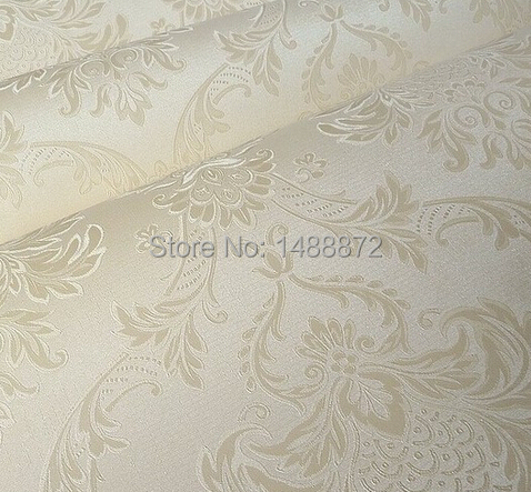 Us 34 0 Beige White Pink 3d French Pattern Damask Wallpaper Wall Paper Roll Wallcoverings Papel De Parede Para Sala In Wallpapers From Home