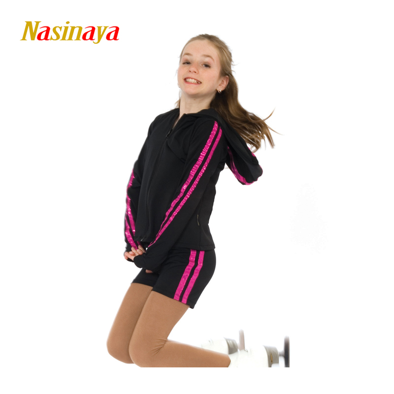 Customized Figure Skating Suits Jacket and Pants Long Trousers for Girl Women Training Patinaje Ice Skating Warm Gymnastics 19