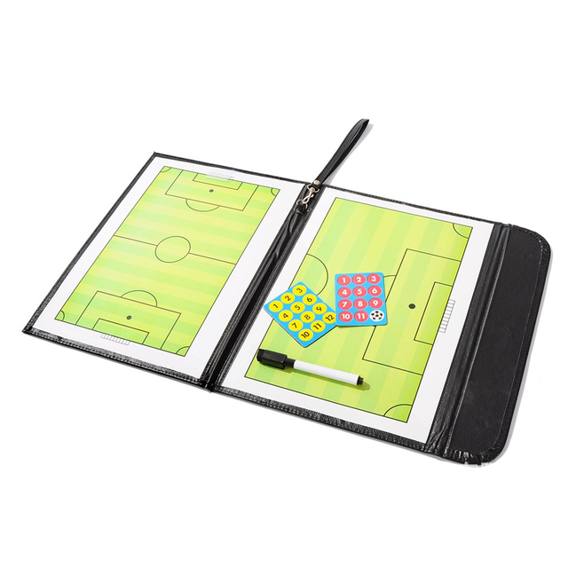 fa58c190b Professional Magnetic Football Soccer Coaching Dry Erase Clipboard Tactical  Board Tactical Plate Kits Coaching Equipment