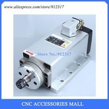 Square 1.5kw Air cooled spindle ER11 220V Spindle motor ,4 Ceramic bearing for wood cnc router стоимость