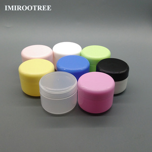 80pcs Cosmetic Packaging 50g Empty Bottle Plastic Jar with Screw Cap and Inner Lids, Free Shipping