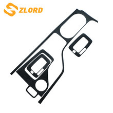 Zlord Carbon Fiber Black Car Inner Gear Panel Sticker For Ford Everest LHD 2014 2015 2016 2017 2018 Accessories