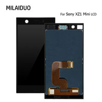 Original LCD Display For Sony Xperia XZ1 mini XZ1 Compact Touch Screen Digitizer Assembly Black No Frame 4.6 Inch 100% Tested