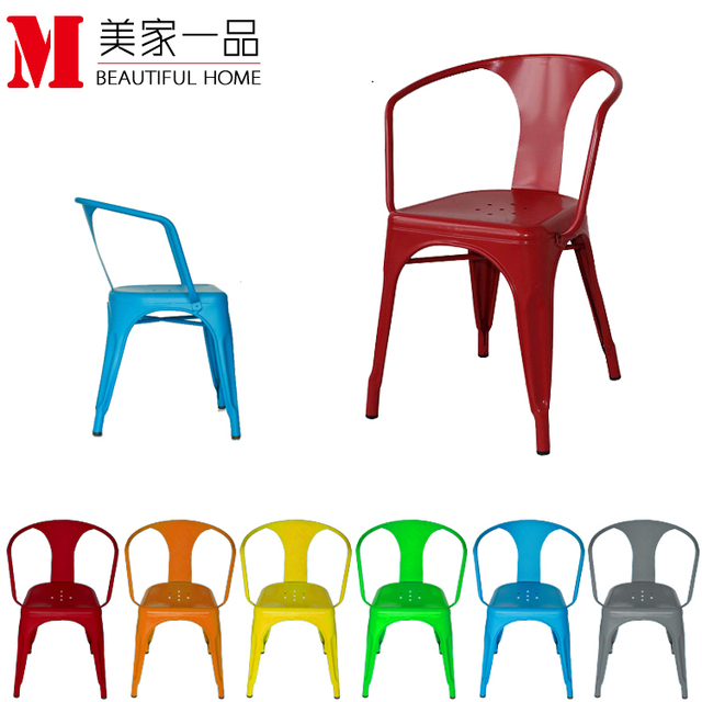 European Style Dining Chair Restaurant Chairs Child Leisure Metal Chair  Fashion Chair IKEA Furniture Industry