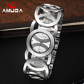 AMUDA Brand Luxury Crystal Gold Watches Women Ladies Quartz Wristwatches Bracelet Relogio Feminino Relojes Mujer Watch For Men