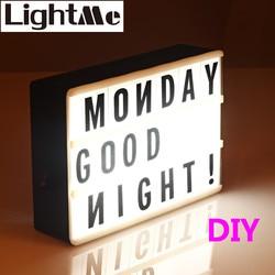 2018 Premuim New A4 A6 Size LED Combination Light Box Night Lamp DIY BLACK Letters Cards USB PORT Powered Cinema Lightbox
