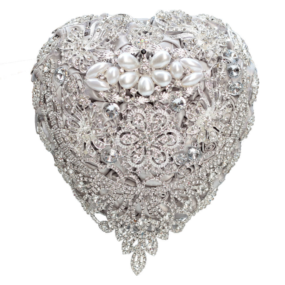 AYiCuthia luxe argent mariage Bouquet cristal mariée Bouquet mariage broche Bouquet bijoux mariage Bouquet S104