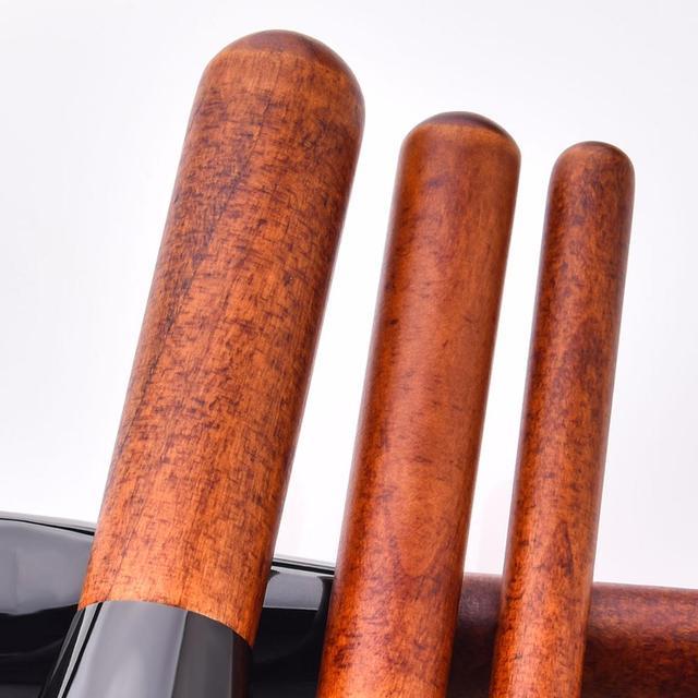 14 Pcs Holz Griff Make-Up Pinsel Set Foundation Powder Blush Lidschatten Augenbraue Wimpern Pinsel Beauty Make Up Kosmetik Werkzeuge