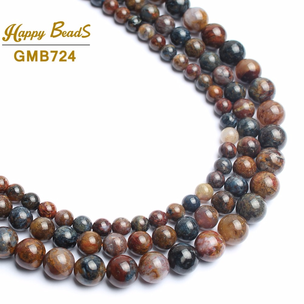 """Faceted 6-14mm Exquisite Red Ruby Round Beads Gems Jewelry Necklace 18/""""AAAAAA"""