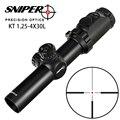 Jacht SNIPER KT 1.25-4X30L Riflescope Compact R12 Glas Geëtst Richtkruis llluminate Torentjes Lock Reset 35mm Buis Tactische sight
