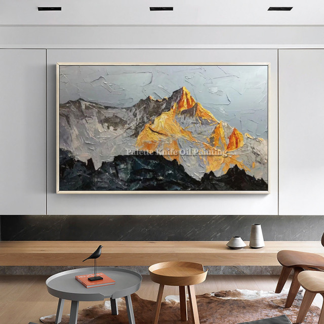 Superieur Canvas Acrylic Painting Wall Art Pictures For Living Room Home Decor Hand  Painted Modern Abstract Mountains