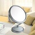 5 дюймов мини настольных зеркало для макияжа 2-Face металла ванная комната зеркало 3X увеличительное 360 вращающийся