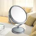 5 pulgadas mini espejo de maquillaje escritorio espejo 2-Face baño espejo de aumento 3X 360 giratoria de metal