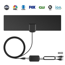 HD 1080P TV Antenna 75 Mile Range with Detachable Amplifier USB Power Supply Signal with IEC F adapter,High Gain DVB-T/T2 HD TV