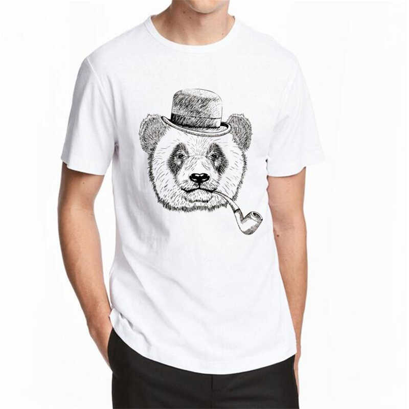 Cheapest Fashion Laughing Bear Men T-shirt Short sleeve men The Happiest Bear Retro Printed T Shirts Funny Tops Plus size 5XL