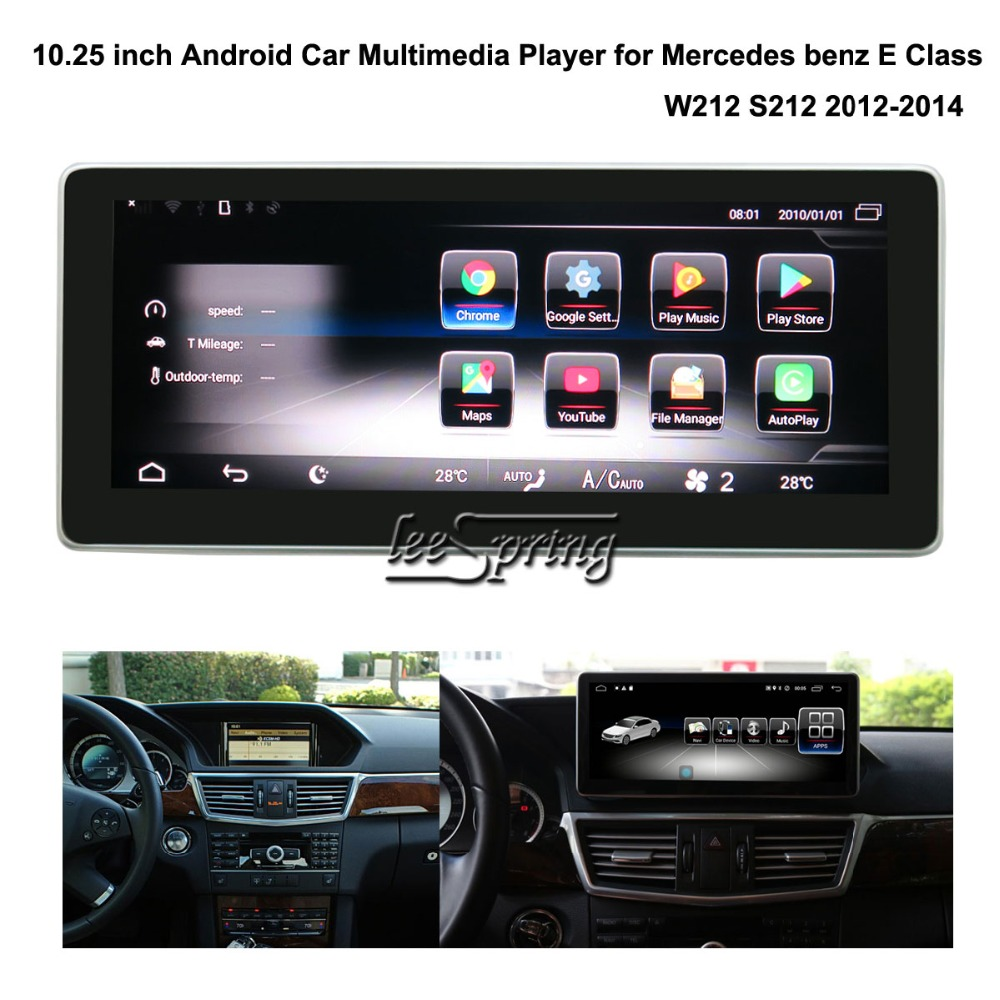 10.25 inch Car <font><b>Multimedia</b></font> Player for <font><b>Mercedes</b></font> Benz E Class <font><b>W212</b></font> S212 2012-2014 with GPS Navigation MP5 Wifi image
