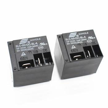 Power relays SLC-05VDC-SL-A 5V 30A T91 HF2100 4PIN A group of normally open image