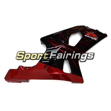 Обтекатели для Suzuki GSXR1000 K1 K2 00-02 2000 2001 2002 впрыска ABS Пластик мотоциклов обтекателя Kit Кузов черный, красный пламя