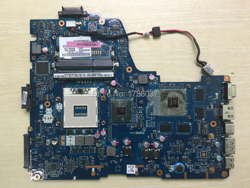 Free Shipping K000109860 LA-6062P for Toshiba Satellite A660 A665 series  Laptop Motherboard .All functions 100% fully Tested !