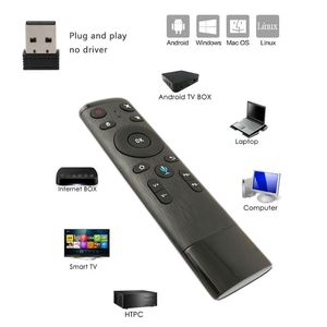 Q5 Voice Control Gyro Air Mouse With Microphone 3 Axis Gyroscope Remote Control For Smart TV Android Box(China)