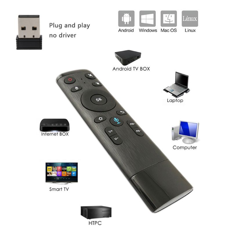 Q5 Voice Control Gyro Air Mouse With Microphone 3 Axis Gyroscope Remote Control For Smart TV Android Box