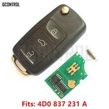 QCONTROL llave remota de coche para AUDI A3, A4, A6, A8, RS4 TT Allroad Quttro RS4 2006 2012 4D0 1994 2004 A / 4D0837231A