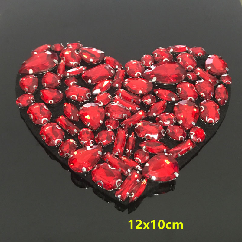 Heart Flower Love Embroidered Iron On Patch Fabric DIY Sewing Applique HandCraft