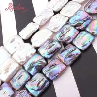 15x18 18x23mm Rectangle Freshwater Pearl Beads Natural Stone Beads For DIY Necklace Earring Jewelry Making 14.5 Free Shipping