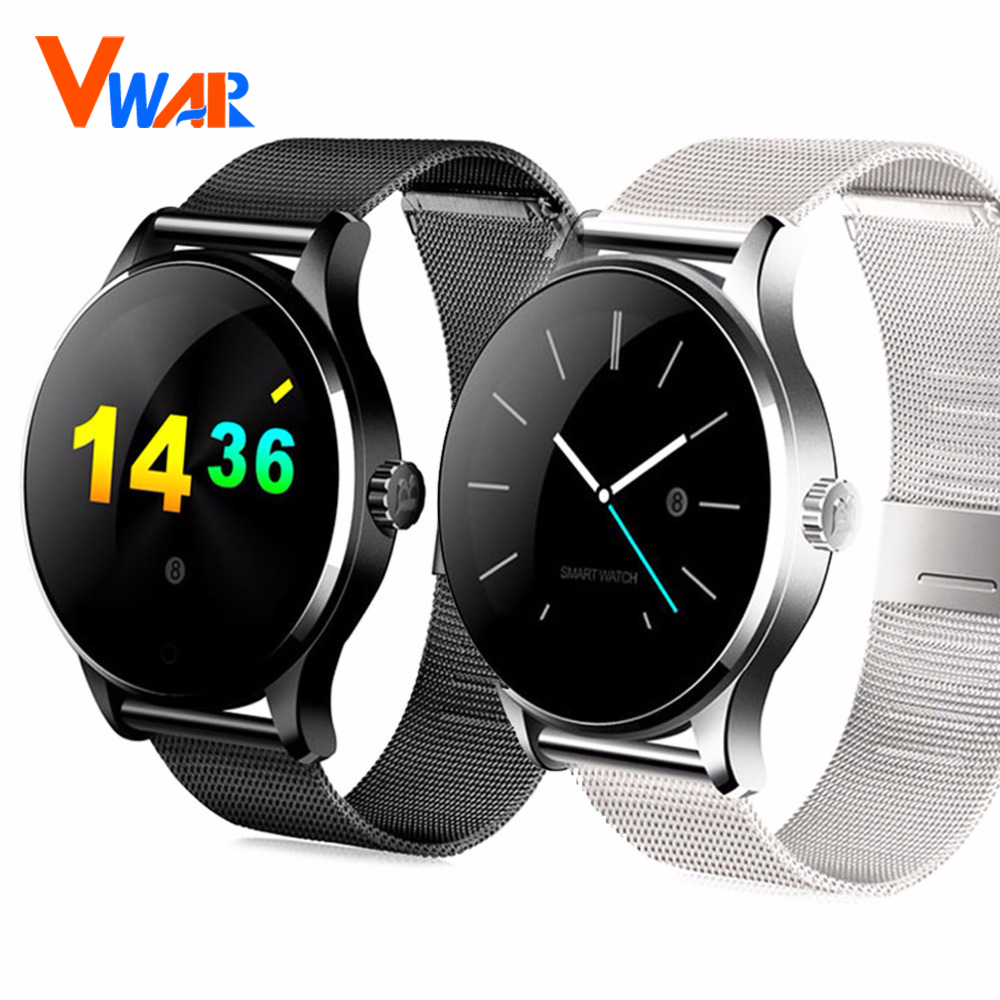 ФОТО Vwar K88H Bluetooth Smartwatch Heart Rate Monitor Remote Camera Push Messages For Android ISO MTK2502C Smart Watch vs iwo 2