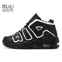 f9de66c1f6621 POLALI nouveaux hommes Basket-ball chaussures baskets de plein air sport  bottines pour hommes amorti anti-dérapant Basket Homme .