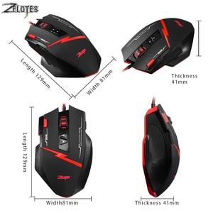 Image 3 - קנאי C 8 לתכנות LED האופטי USB Gaming Mouse 2500 DPI 8 כפתורי מחשב עכבר יד משחק עכבר משחקים למחשב מחשב נייד